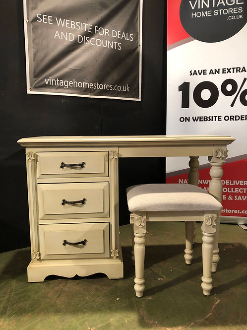 Barker and Stonehouse Victorian Ivory Dressing Table and Stool