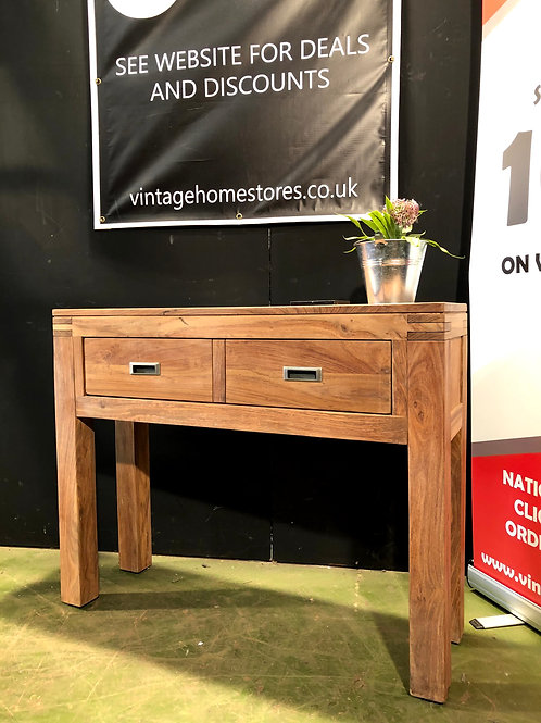 Barker and Stonehouse Solid Teak Console Table
