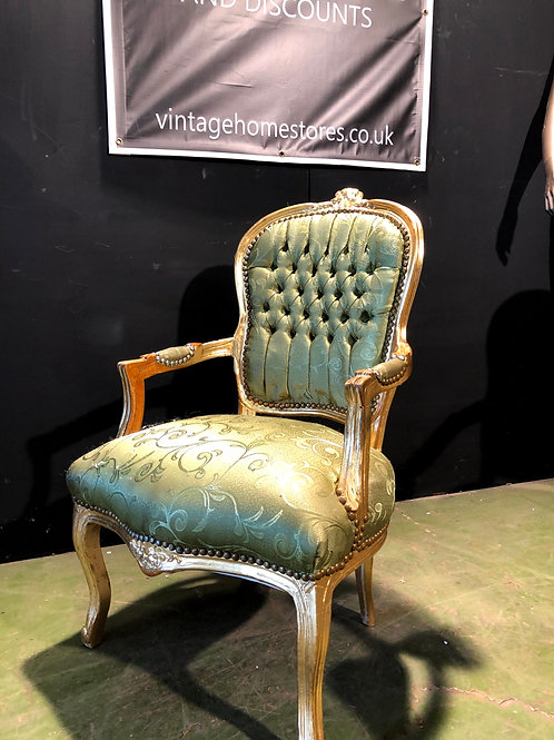 French Style Gold Throne Chair (a)