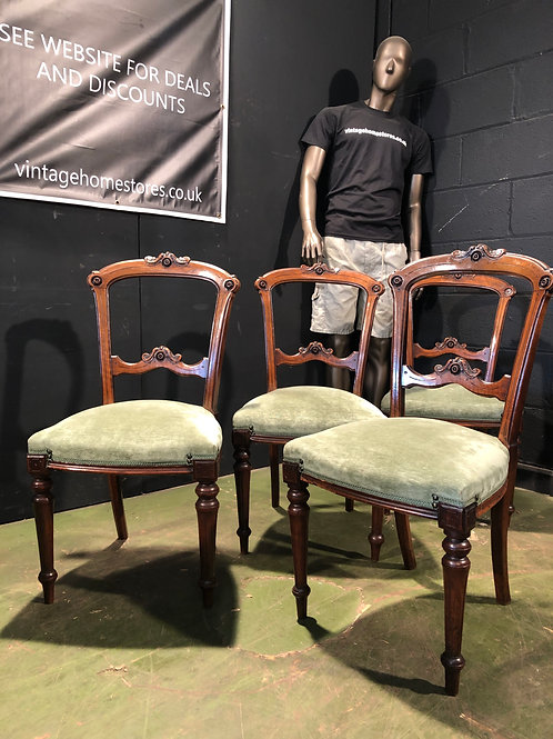 Super set of 4 Antique Victorian Chairs