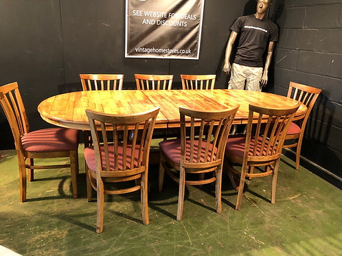 Superb Extending Dining Table with 8 Chairs