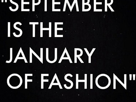 September is the January of fashion | #MFShow