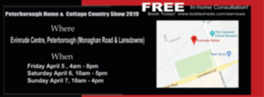 Peterborough Home & cottage Show ad 2019