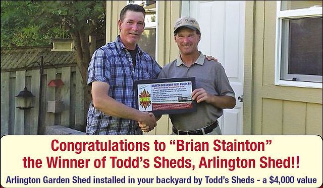 2015 Contest Winner Brain Stainton from Bowmanville