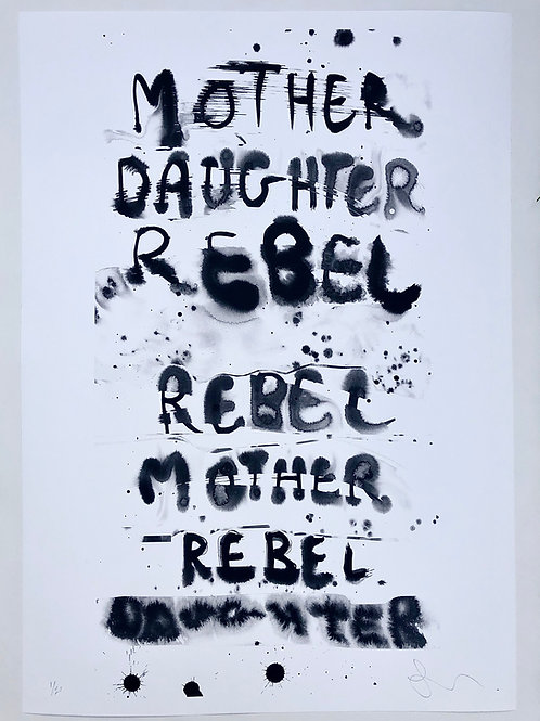 Rebel Mother Print A1 size