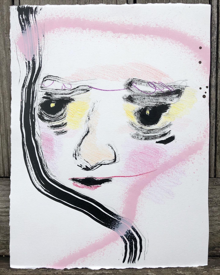 Girl Portrait with Yellow