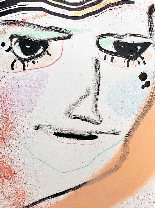 Portrait Study (peach)