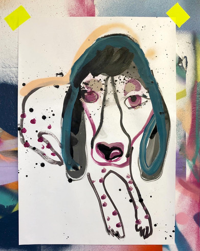 Doggy in Grape
