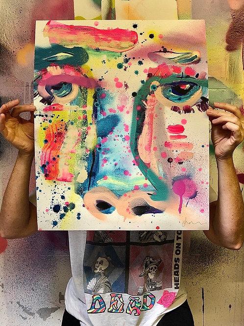 A/P Yin Cow Giclee Print