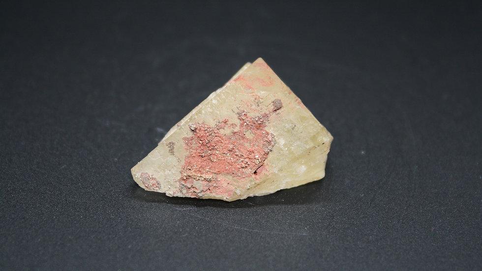 Golden Fluorite with Pyrite/Hematite