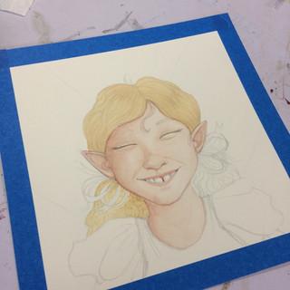Mae Smiled work in progress