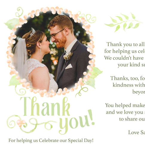 Thank You!  Photo by J&R Photography of NY