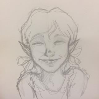 Mae Smiled sketch