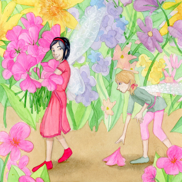 Hana's Pink Petunias