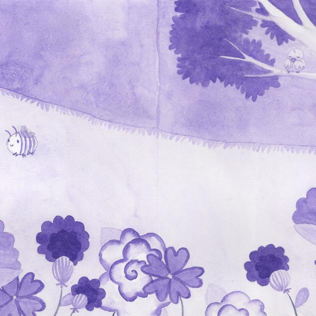 Purple Flowers, Purple Trees