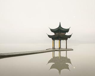 Pagoda, West Lake, Hangzhou, China, 2011