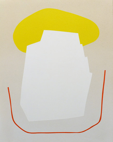 Gradient with White Shape and Yellow, 2018