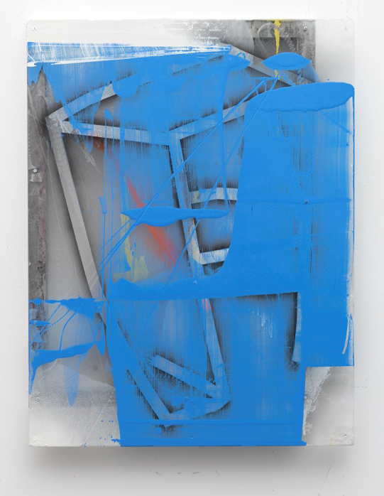 FLEMING 2016_Blue_Chip_ enamel on poly and alum 36 x 24