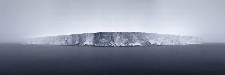 Burdeny Giant Tabular Iceberg in Fog Antarctica 2007