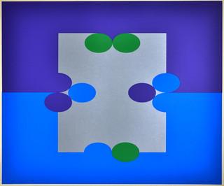 Court #3 Blue Silver Purple