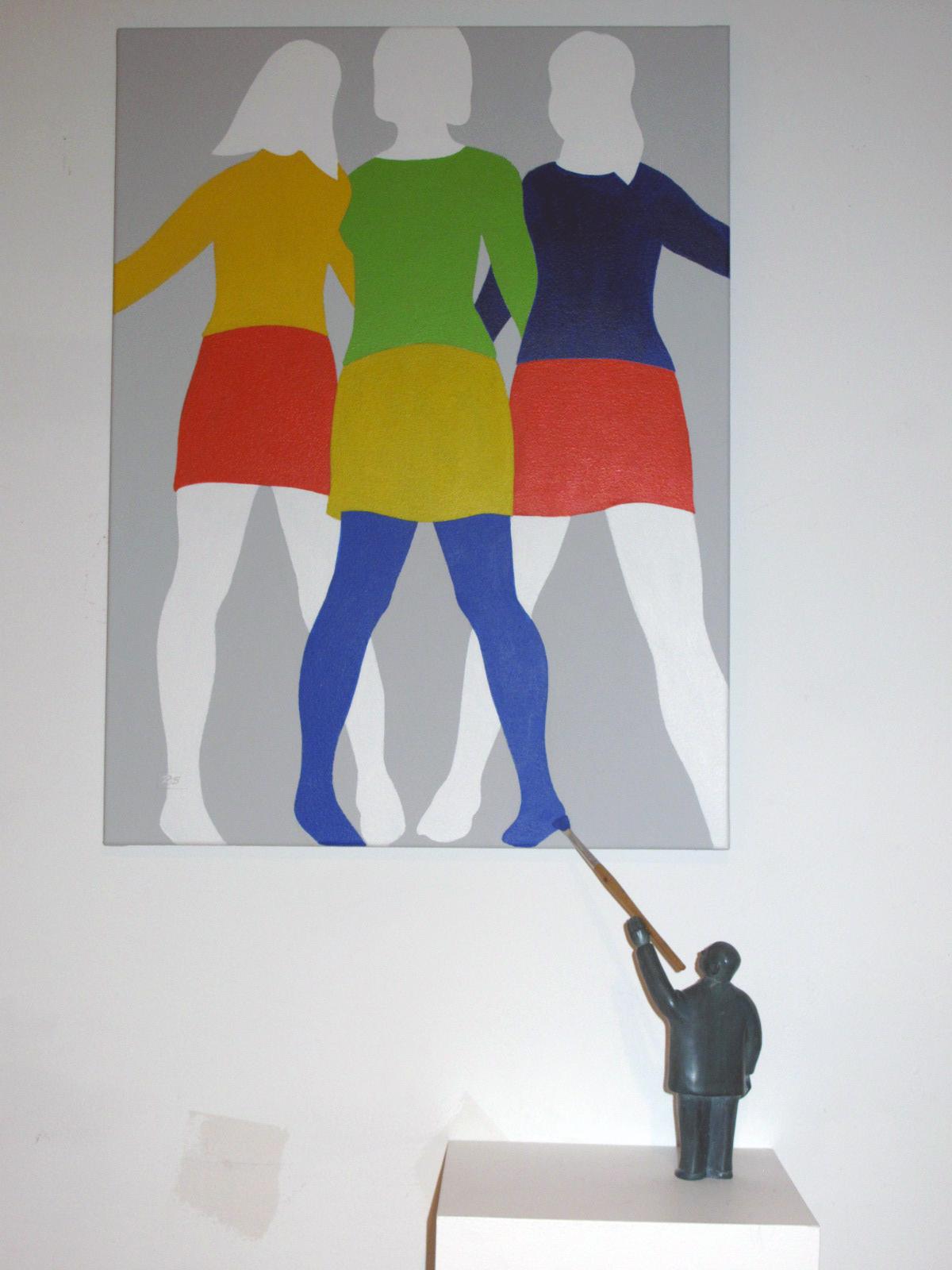 Reinhard_Skoracki_Girls,Girls,Girls_95x50x20cm_edof3_2014_$3400
