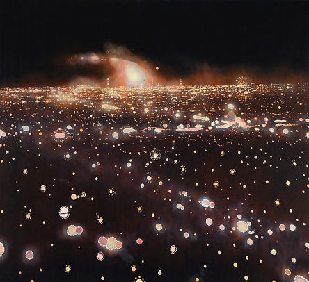 Burning Man # 1, oil on canvas, 60 x 66