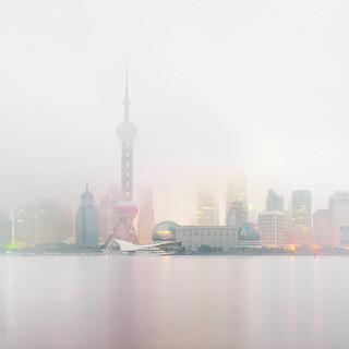Shanghai Skyline (dawn), Shanghai, China, 2011