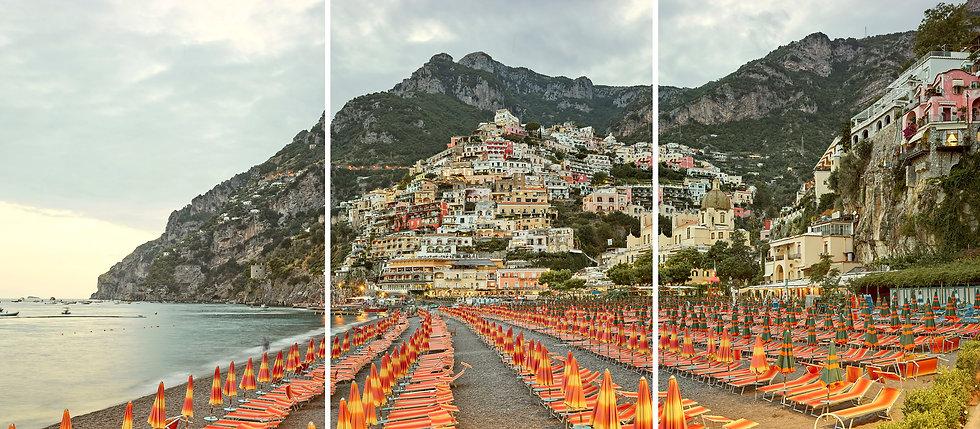 Positano (Triptych), Amalfi Coast, Italy, 2016