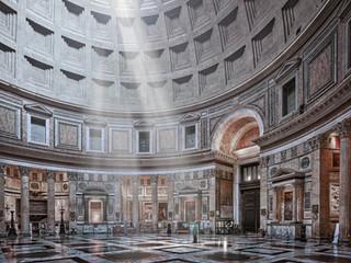 Pantheon (interior), Rome, Italy, 2018