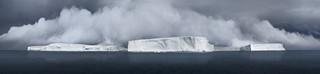 Icebergs Generating Fog in Antarctic Sound, 2007