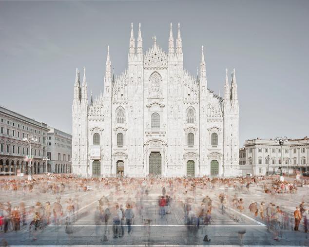 Piazza of Shadows, Milan, Italy, 2018