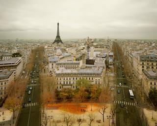 Paris from Arc de Triomphe, Paris, France, 2010