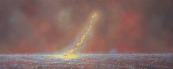 Dennis_Ekstedt_MONUMENT # 6, 2012, oil on canvas, 18 X 44 INCHES.