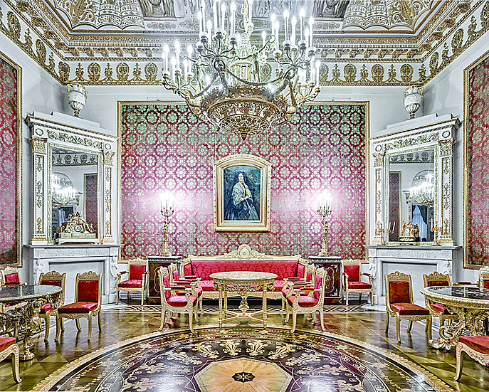 Red Room, Yusupov Palace, St Petersburg Russia, 2015