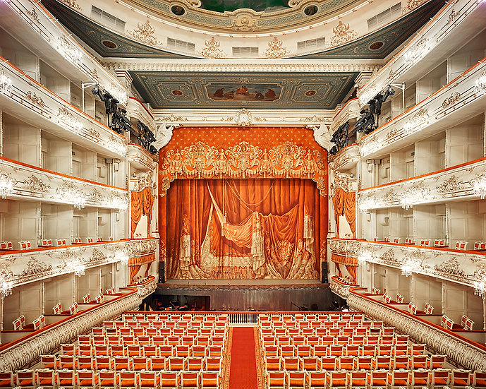 Mikhailovsky Theatre Curtain, St Petersburg, Russia, 2015