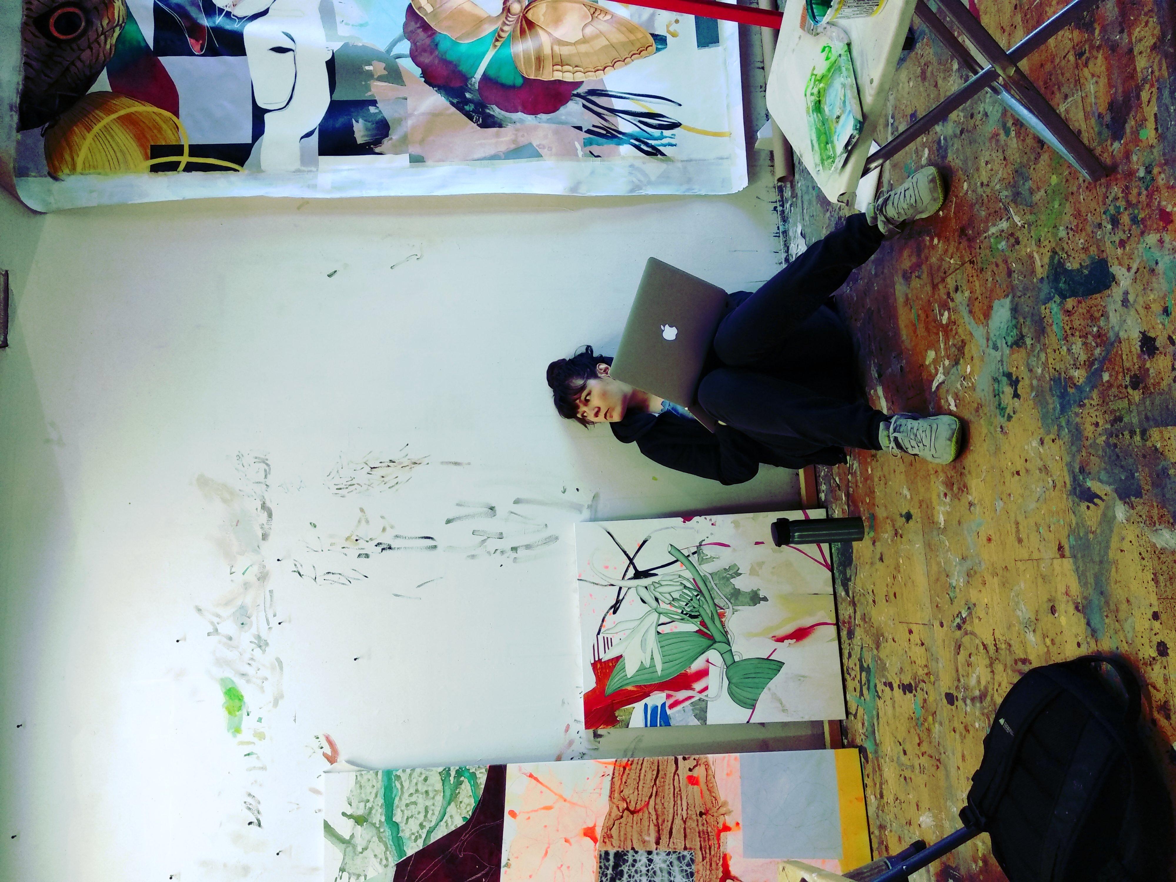 Fiona Ackerman in Studio