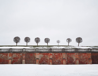 Red Wall, Peterhof, Russia 2015