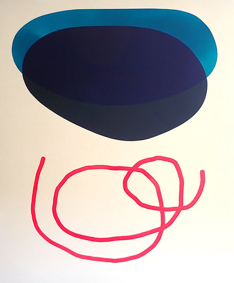 Black and Blue with Red Line
