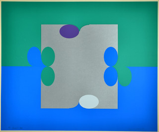 #3 Court Green and Blue 1971