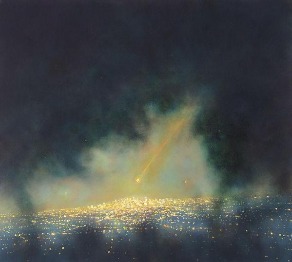 BEACON # 10, oil on canvas, 2013, 38 x 4