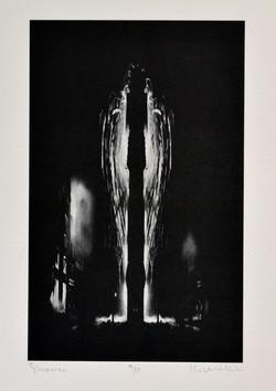 Ken Webb. Shower, 6 x 9.5