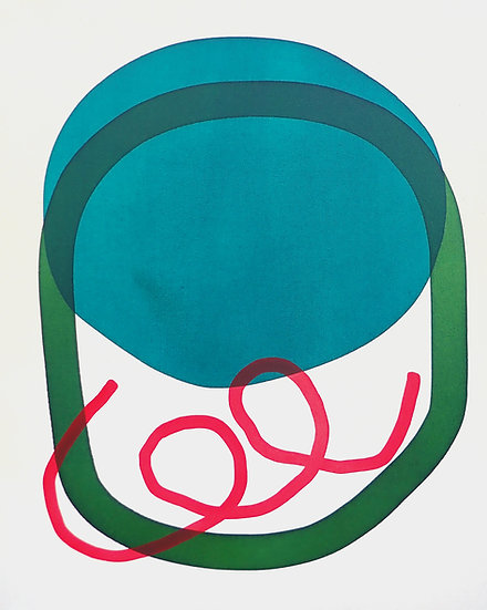 Blue with Green Loop