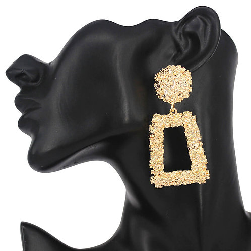 Nugget Geometric Earrings