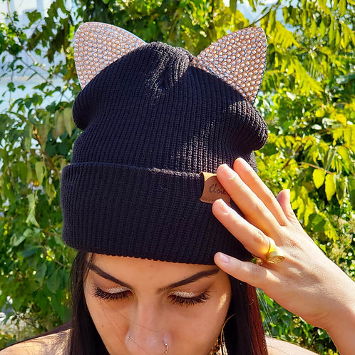Lit Cat Ears Knit Beanie