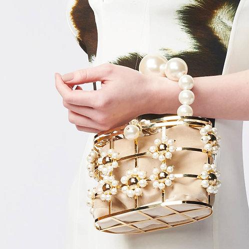 Pearl Fleurs Clutch Bag