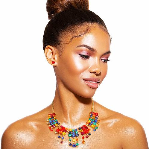 Candy Rhinestone Collar Necklace Set