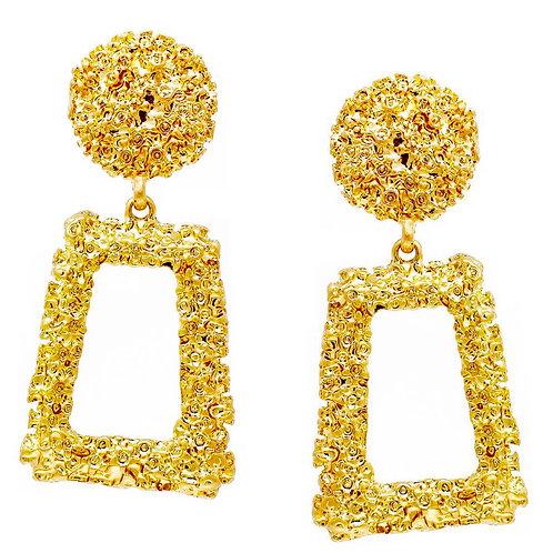 Cat Walk Of Fame Jewelry Gold Nugget Geometric Earrings