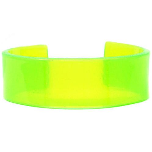 Neon Transparent Cuff Bracelet
