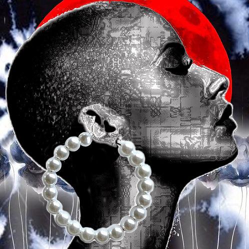 Pearl Large Hoop Earrings