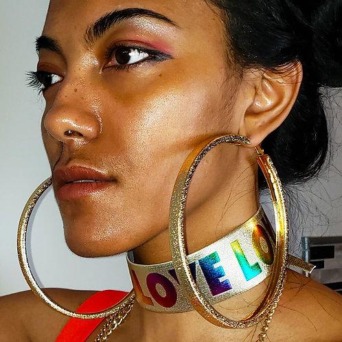 Textured Metal Oversized Hoop Earrings